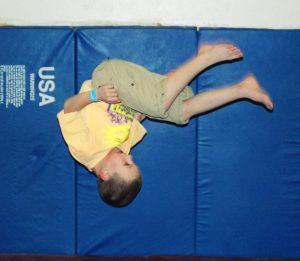 Sam doing a flip