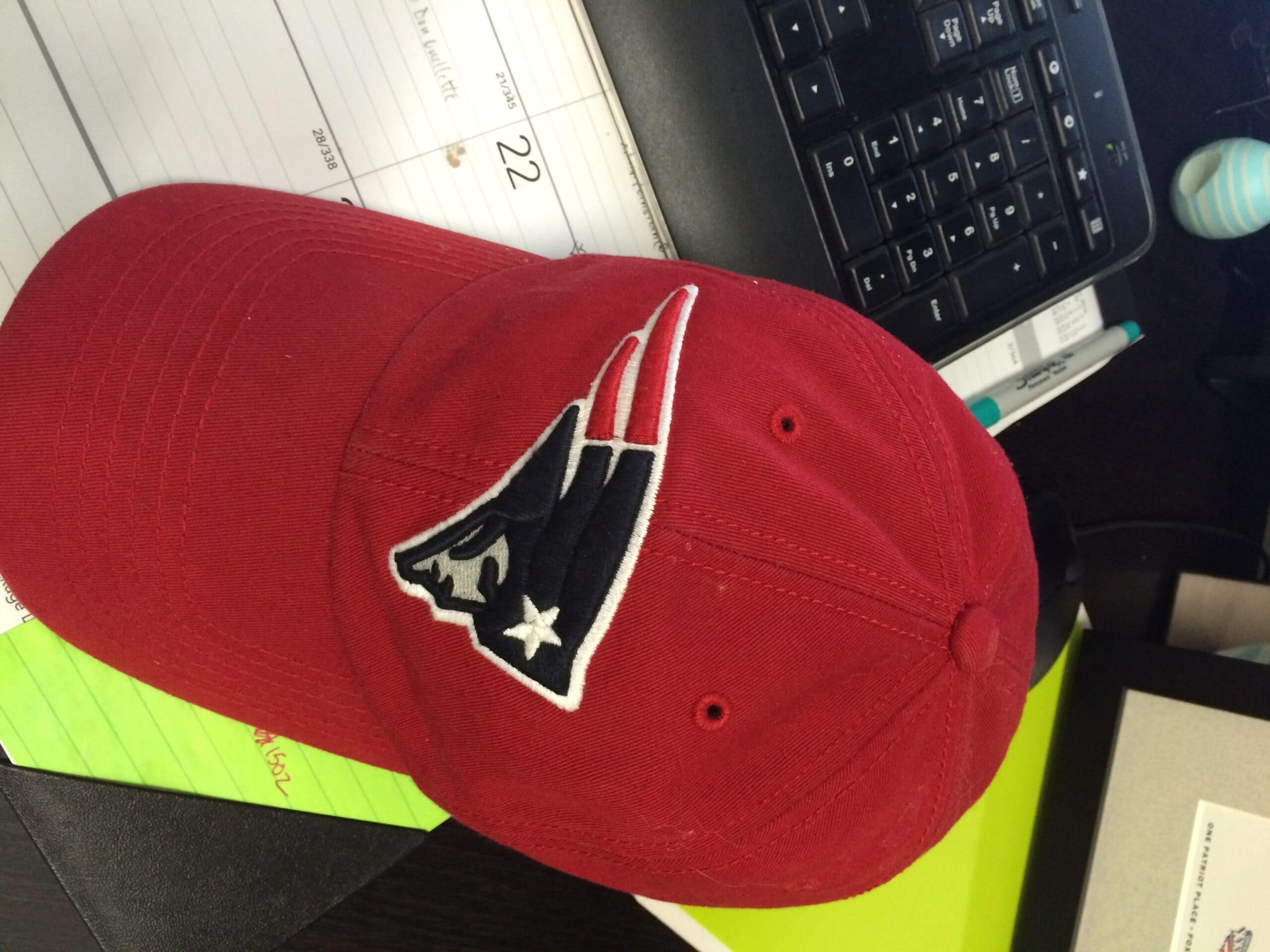 red Patriots baseball cap