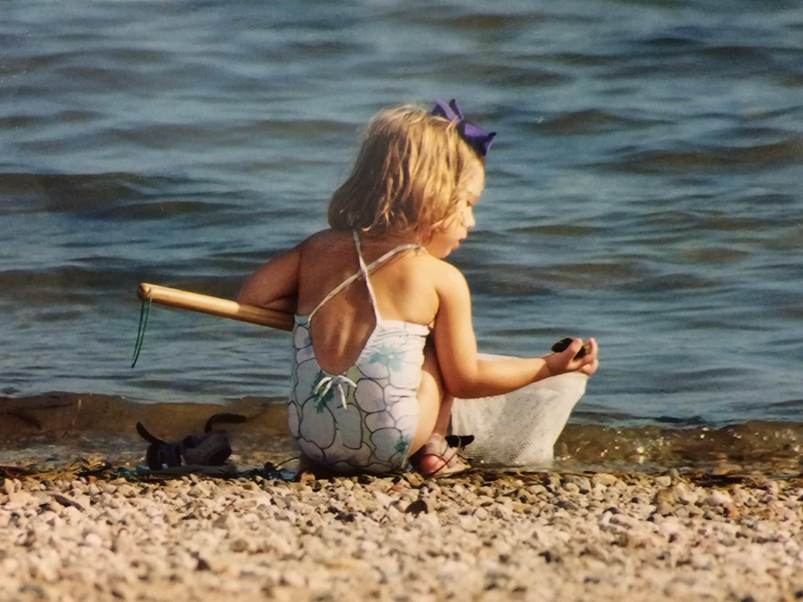 Emmy on the beach