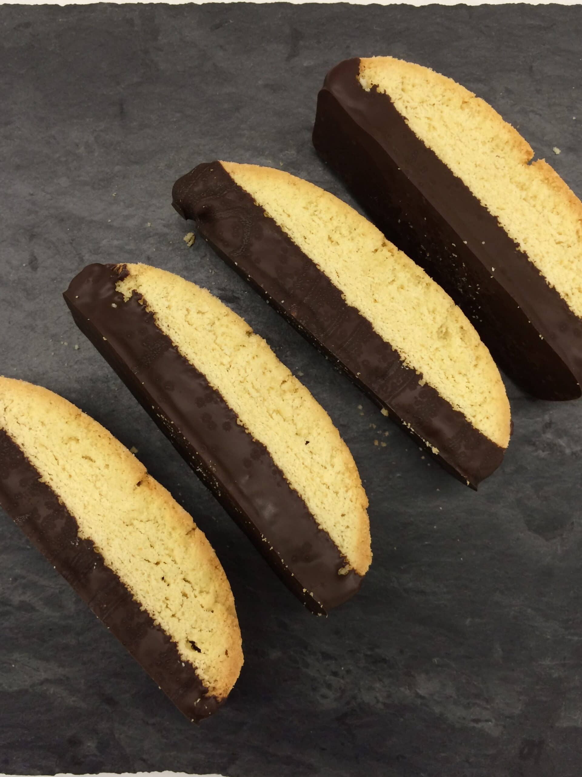 Chocolate dipped Almond Biscotti